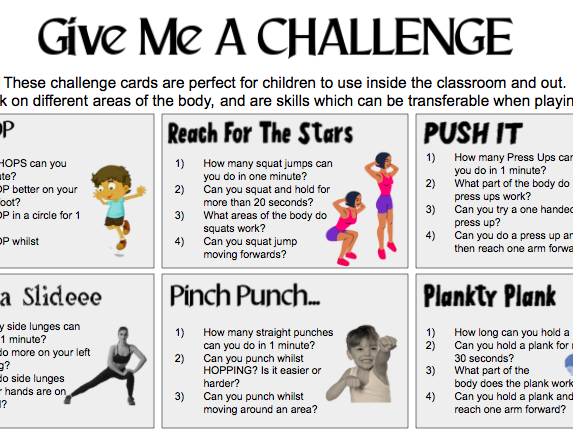 Give me a CHALLENGE Exercise Activity