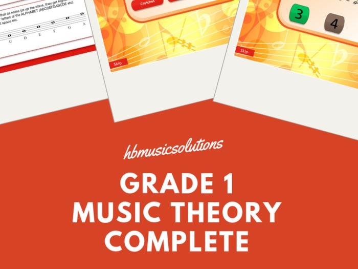 Grade 1 Music Theory Printable And Interactive Bundle