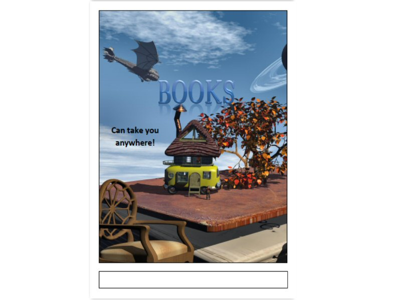 Book Fair Poster in A3 pdf format - General Fiction Theme 2