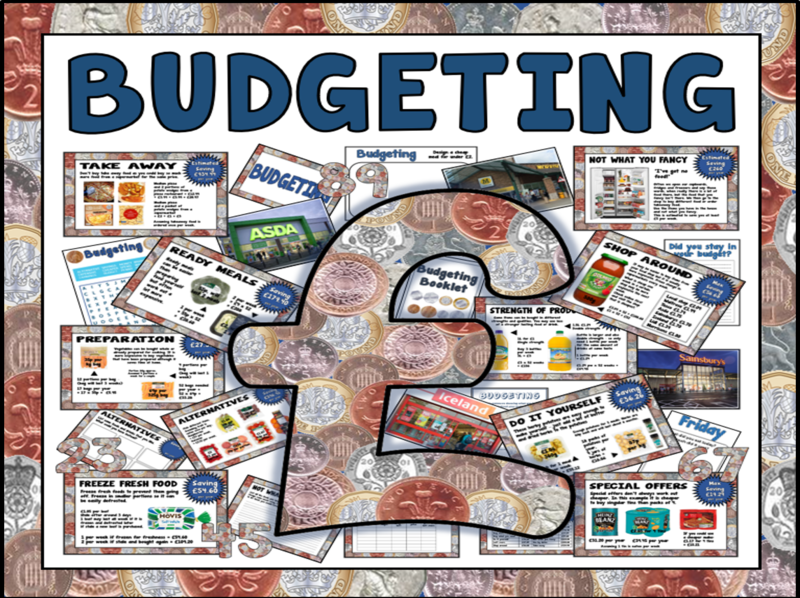 BUDGETING MONEY TEACHING RESOURCES FOOD TECHNOLOGY MATHS SHOPPING