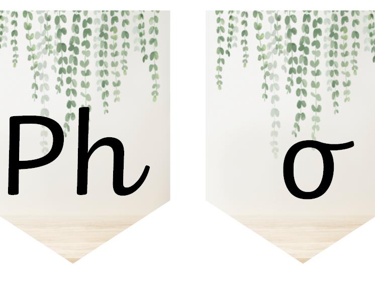 Phonics Natural Display Bunting