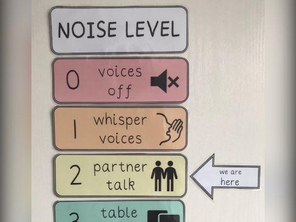 Pastel Noise Level Chart