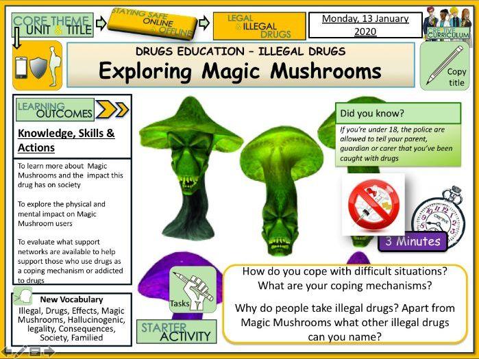 Drugs - Magic Mushrooms Class A