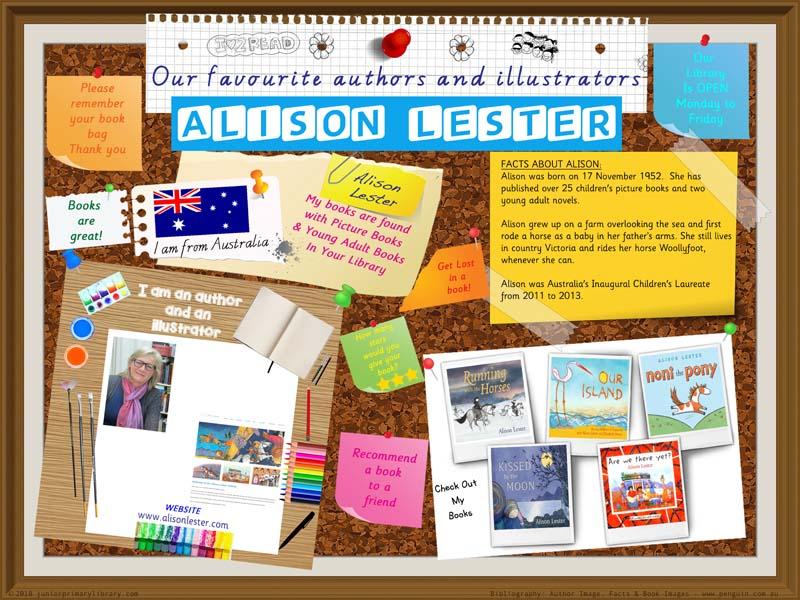 Library Poster - Alison Lester Australian Children's Author/Illustrator