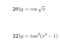 Chain rule -product rule-Derivatives of trigonometric functions worksheets (with answers)