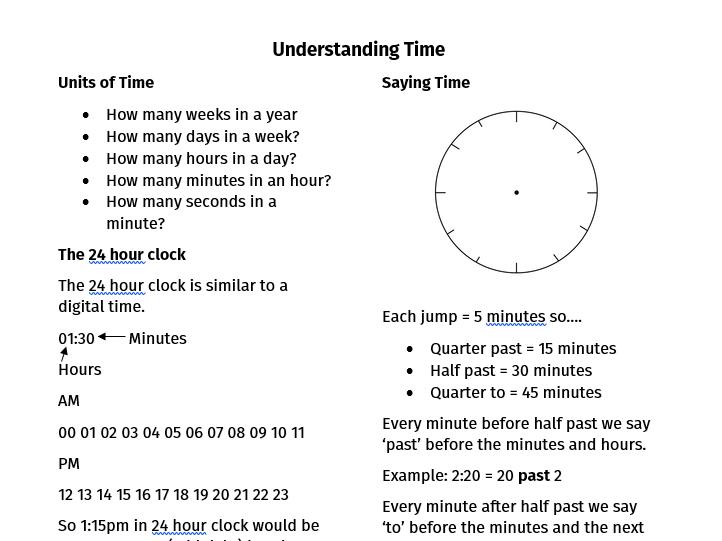 Understanding Time HA Year 5/Year 6