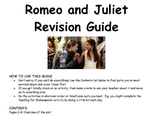 Romeo and Juliet GCSE Revision Guide AQA