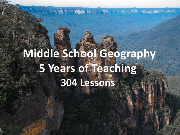 Middle School Geography - 5 Years of Teaching