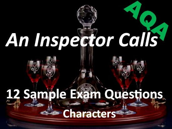 An Inspector Calls Exam Questions on Characters AQA