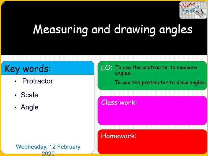 Measuring and drawing angles