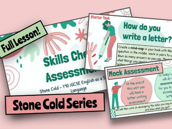Stone Cold English iGCSE / GCSE Pre-Writing Assessment