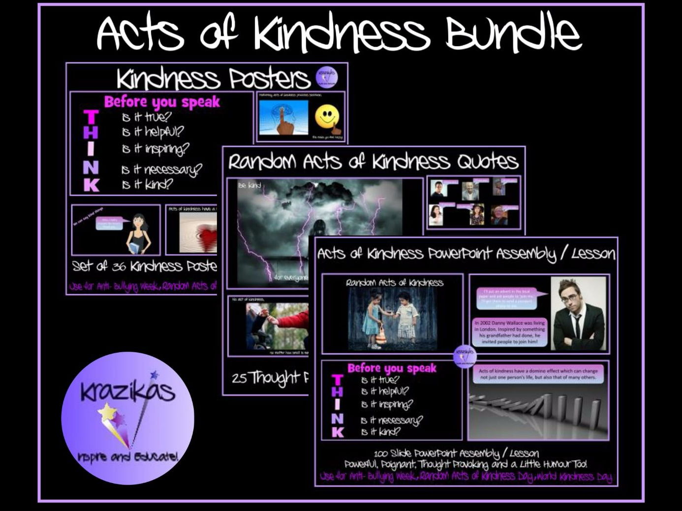 Acts of Kindness Bundle - Ideal for Random Acts of Kindness Days / Weeks / Anti-Bullying Week