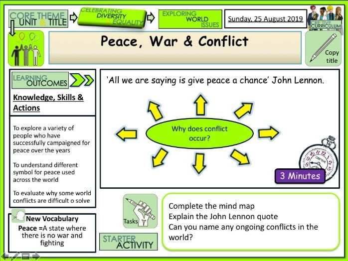Peace War and Conflict