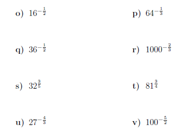 Negative and fractional indices worksheet (with solutions)