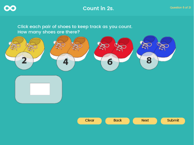 Skip Counting – twos, fives and tens - Year 1, Key stage 1