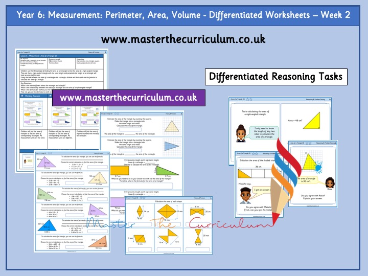 Year 6 – Spring – Week 2 – Measurement: Perimeter, Area And Volume Differentiated Sheets White Rose