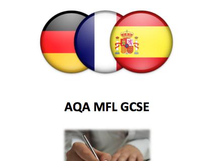 French, German and Spanish GCSE Writing workbooks (AQA New Spec)