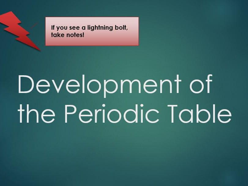 Science resource hub teaching resources tes ks34 gcse development of the periodic table urtaz Gallery