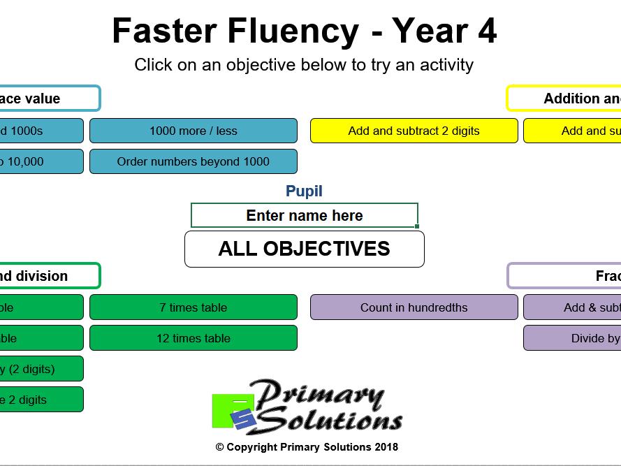 Faster Fluency Year 1 - Year 6 Bundle