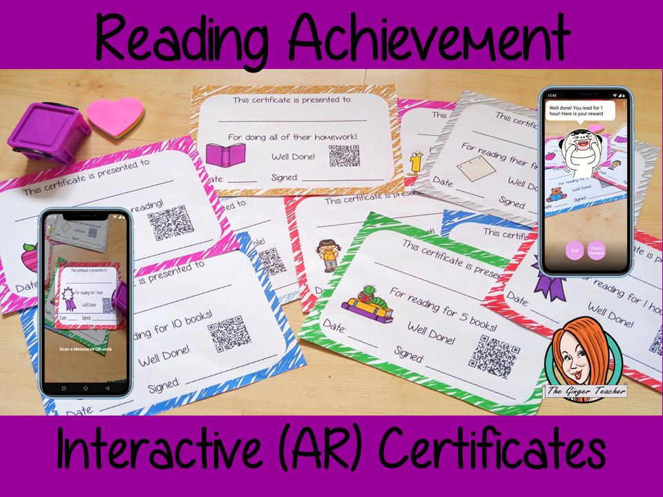 Interactive Reading Achievement Certificates