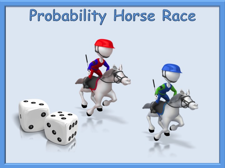 Probability Fun Horse Race Game And Activity Dice Functional