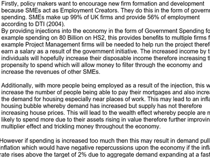 A level Economics Government Intervention 25 marker