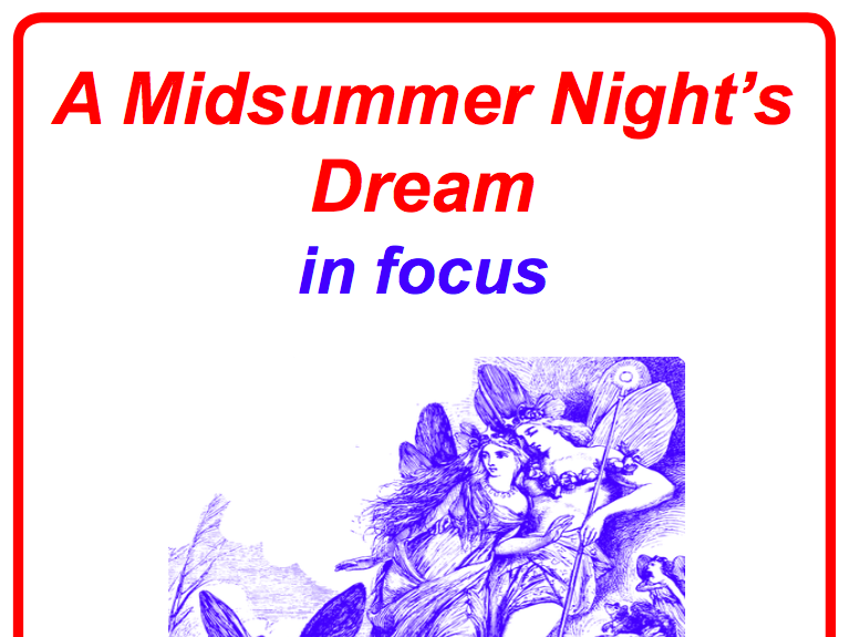 A Midsummer Night's Dream in Focus 12-lesson Poster and Worksheet Pack