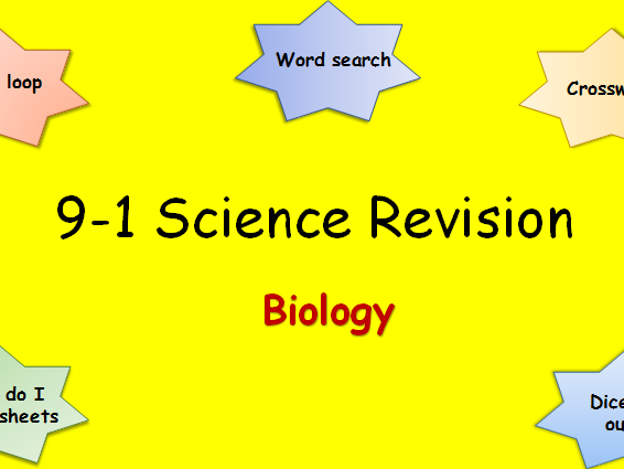 9-1 Science Edexcel Combined Biology  Revision Pack