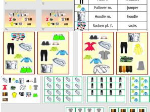 German clothes, die Kleidung - Game and PowerPoint to teach basic items of clothing