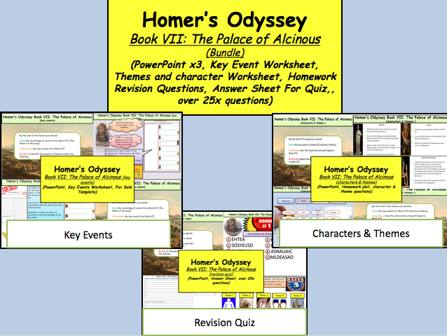 question and answer sheet to the odyssey by homer