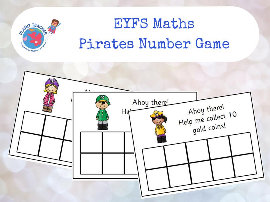 EYFS Maths - Pirates 10 Frame Game