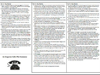 An Inspector Calls: revision catch-all