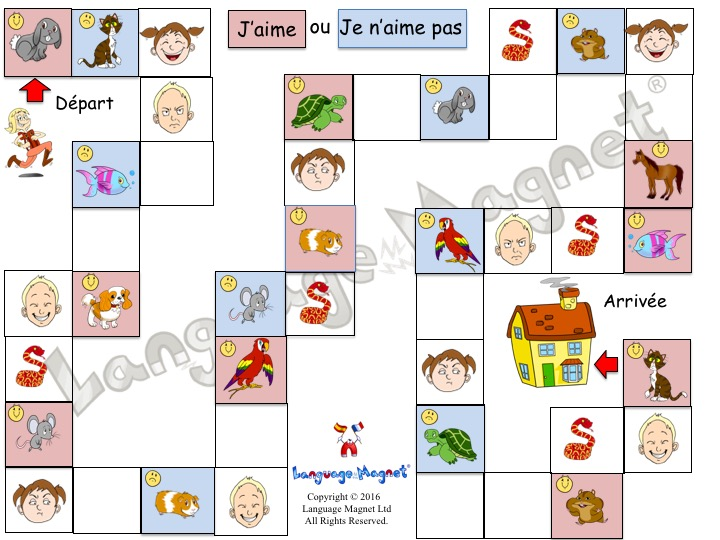 French Pet Opinions Board Game