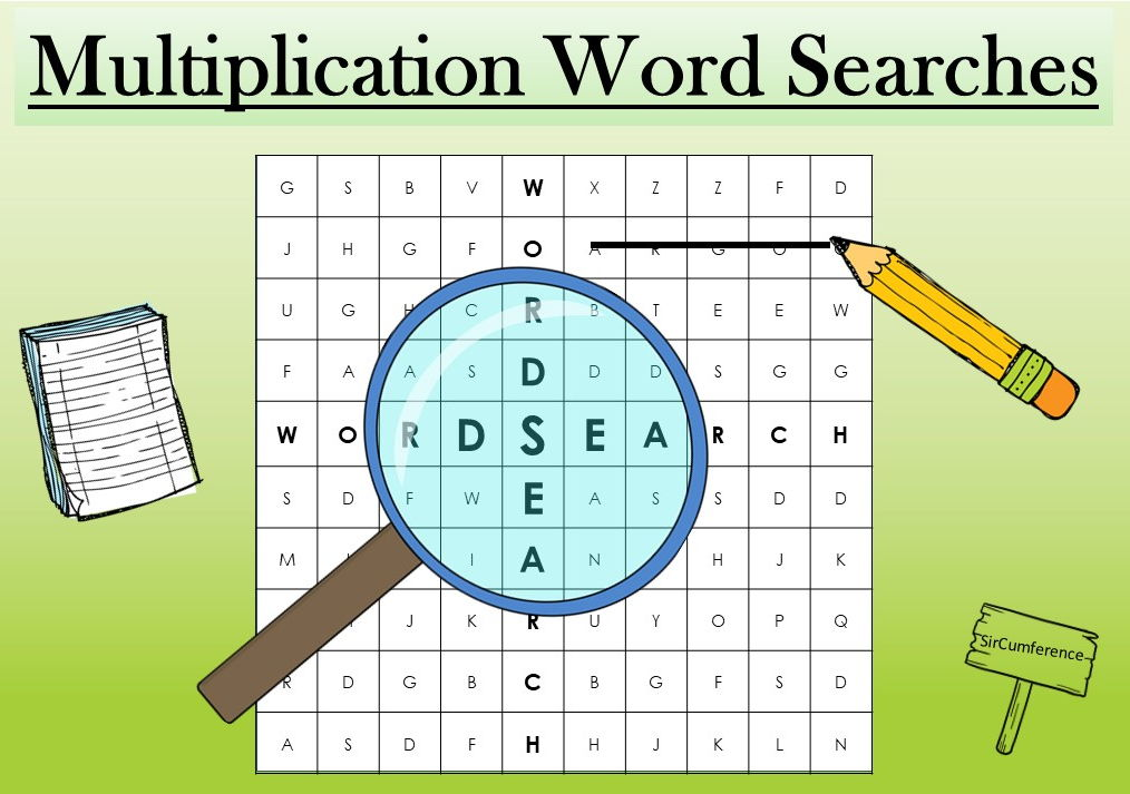 Multiplication Wordsearches