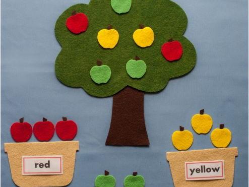 Apple Colour Sorting Felt Board Set Digital Pattern