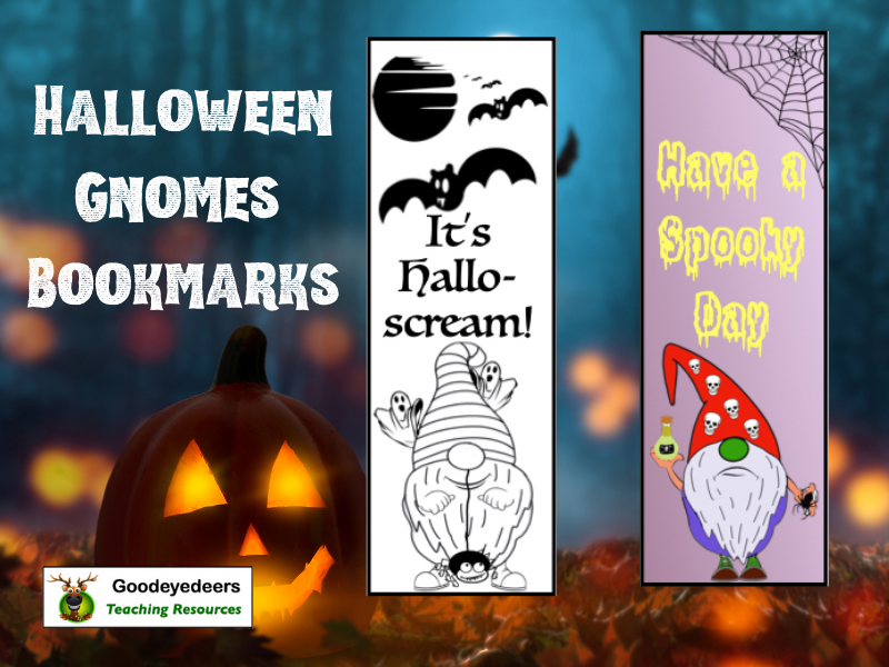 Halloween Gnomes Bookmarks