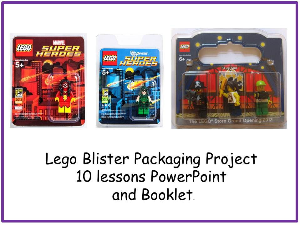Lego Blister Packaging Unit of Work and Booklet 10 Lessons. Design and Technology KS3 Life Without Levels