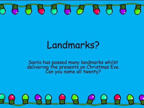 Awesome Christmas Quiz - Landmarks