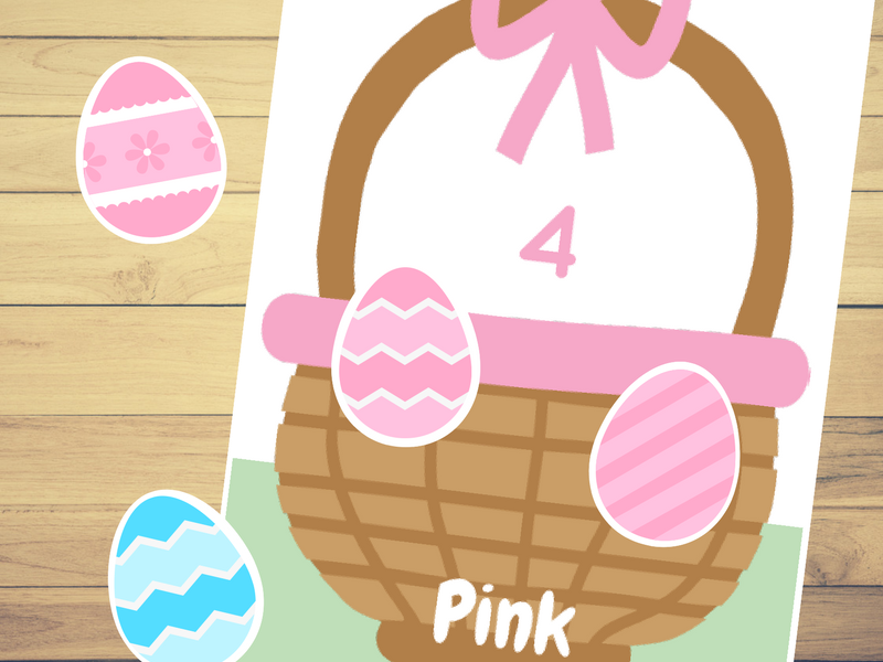 Easter Egg Hunt Color and Number Match⎜Color and Number Match Game⎜Color recognition ⎜Counting