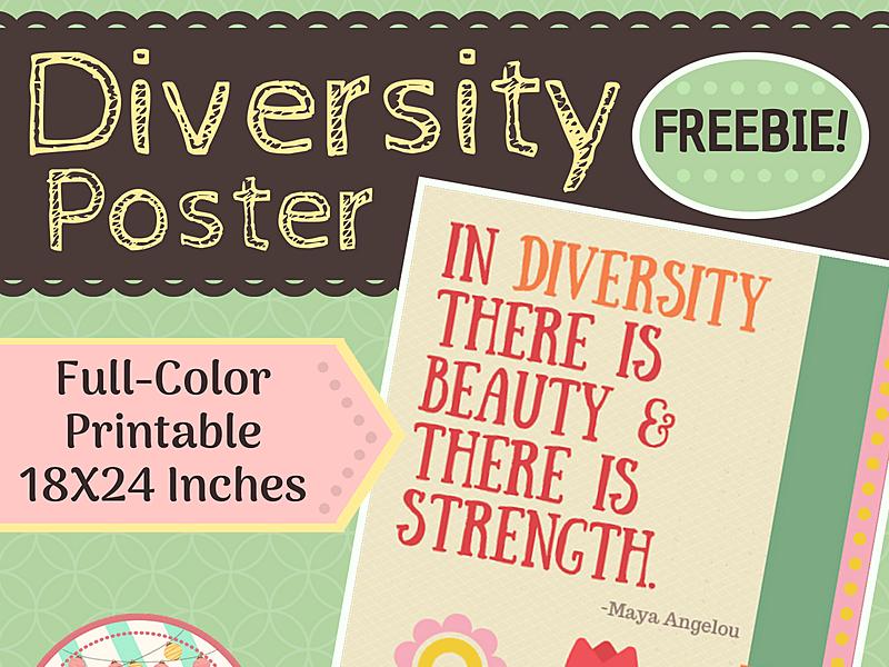 Diversity Poster-- FREEBIE!