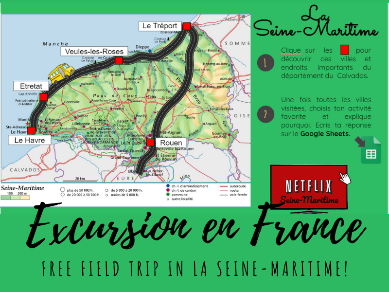 Free French Virtual Field Trip - la Seine-Maritime