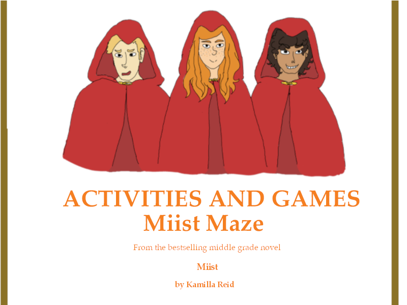 Maze Worksheet inspired by the bestselling middle grade novel, Miist.