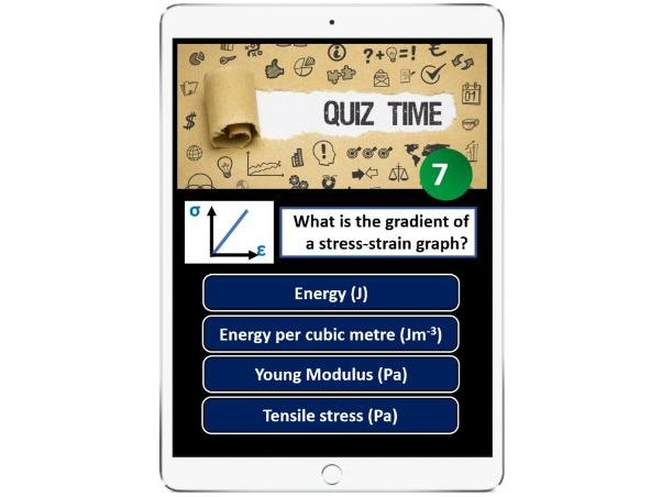 Young Modulus iPad interactive learning task