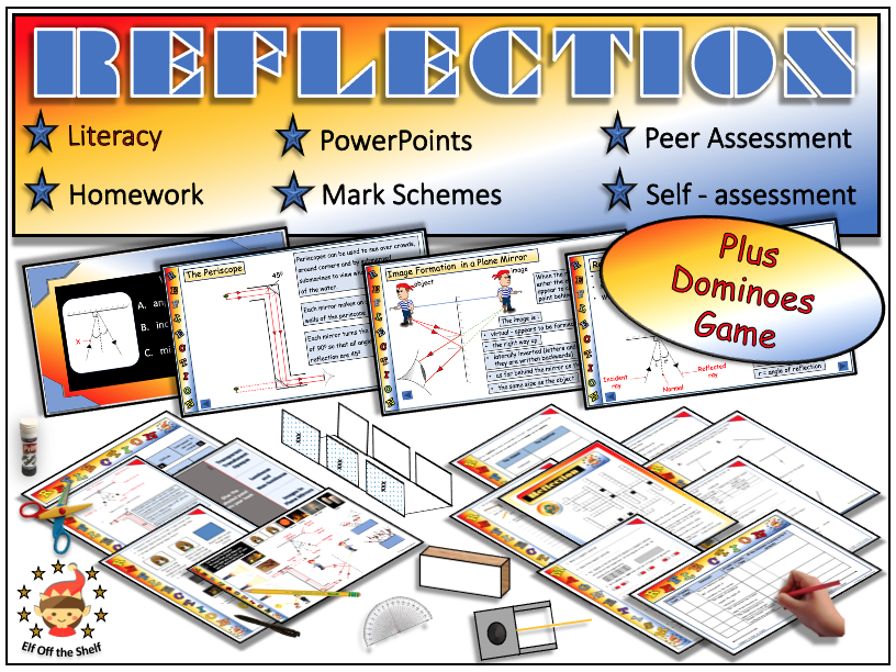 Light - Reflection in a Plane Mirror - Fully Resourced Lesson Plus Dominoes Game