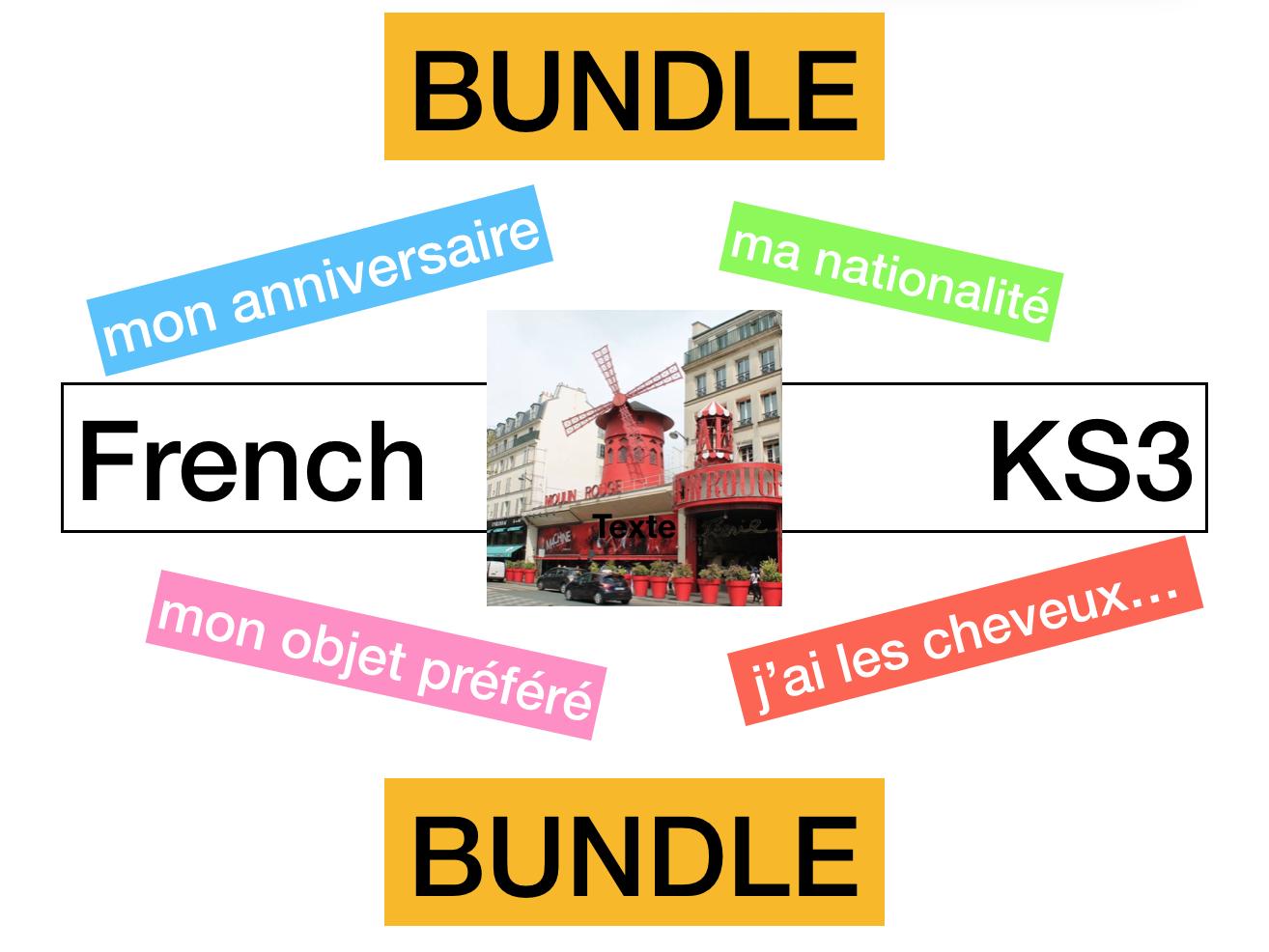 KS3 - French  Allez 1 Tout sur moi. (1.1 / 1.2 / 1.3 / 1.4)