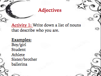 Introduction to Adjectives Lesson