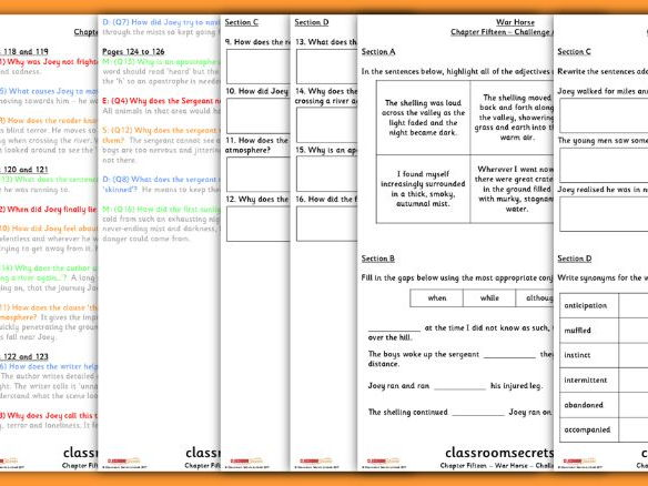 War Horse Chapter 15 Whole Class Guided Reading Comprehension