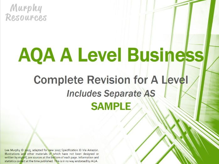 AS & A Level Business Revision for AQA (Free Sample)