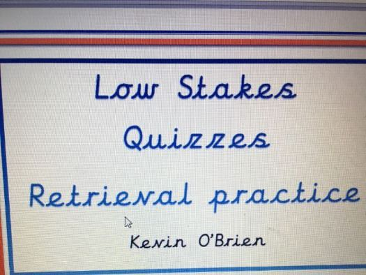 Low Stakes Quizzes for Y6