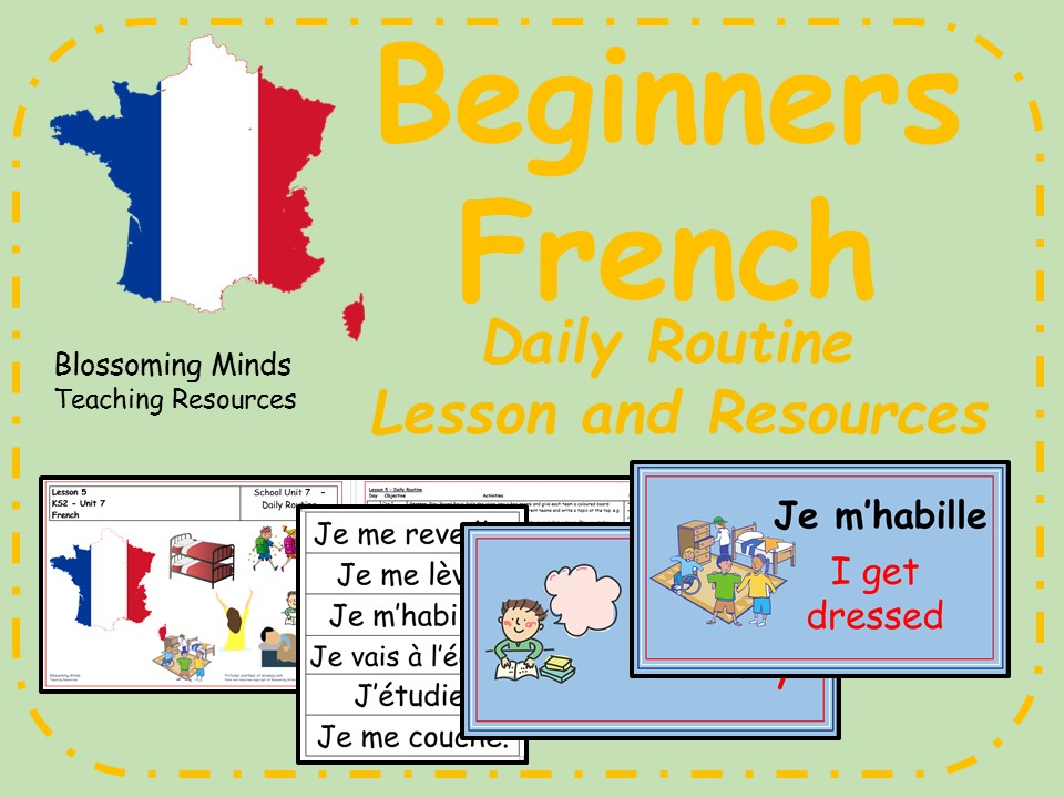 French lesson and resources - KS2 - Daily Routine